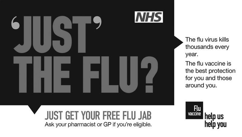 The flu vaccine is the best protection for you and those around you. Ask your pharmacist or GP if you're eligible.